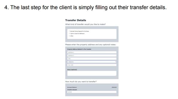 step 4 send earnest money